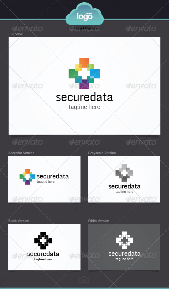 Secure Data Logo Template - Symbols Logo Templates