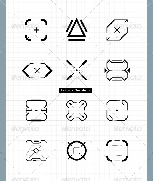 Game Crosshairs - User Interfaces Game Assets