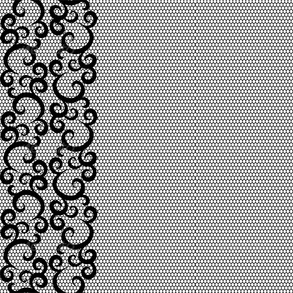 Seamless lace border and net pattern - Backgrounds Decorative