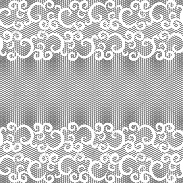 Seamless lace border and net pattern. - Backgrounds Decorative