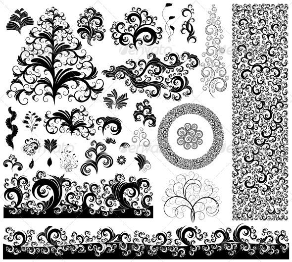 Set of Design Elements - Decorative Vectors