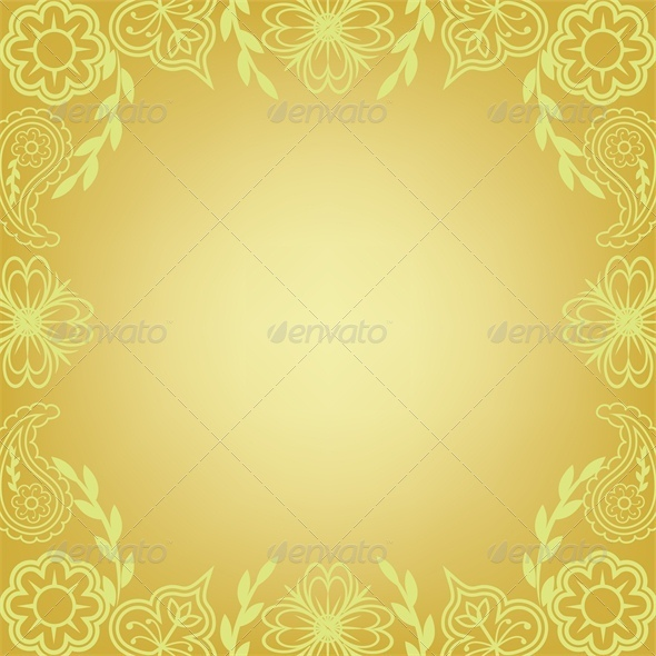 Floral frame, summer background - Backgrounds Decorative