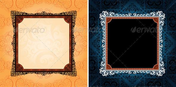 ornamented frames - Backgrounds Decorative