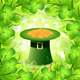 St. Patricks Day Card with  Leprechaun Hat - GraphicRiver Item for Sale