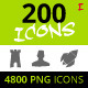 200 Rough Icons (Icons Set - Part I) - GraphicRiver Item for Sale