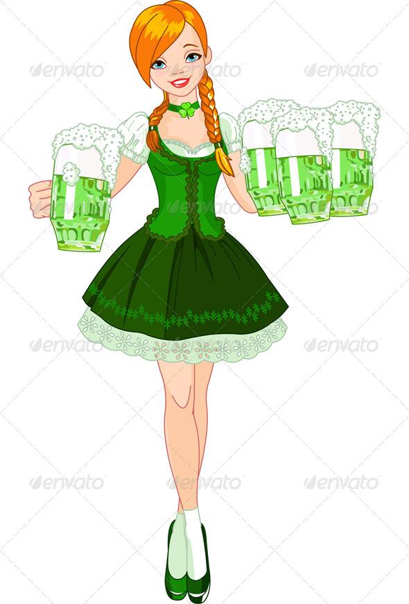Irish girl - Seasons/Holidays Conceptual