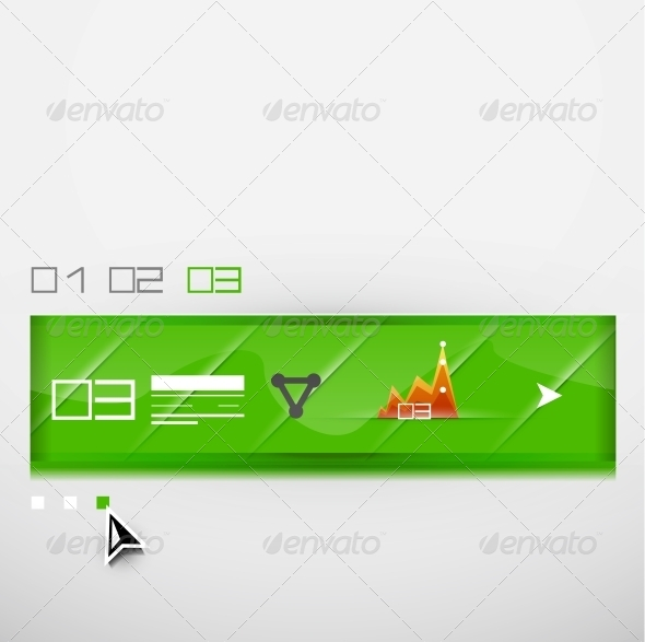 Vector infographic banner design template - Web Technology