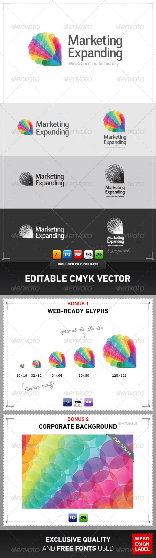 Marketing Expanding Logo - Abstract Logo Templates