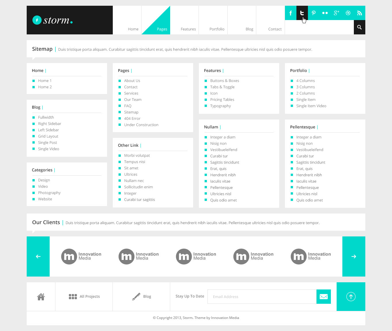 Sitemap: Multipurpose PSD Theme By Hasanrosidi