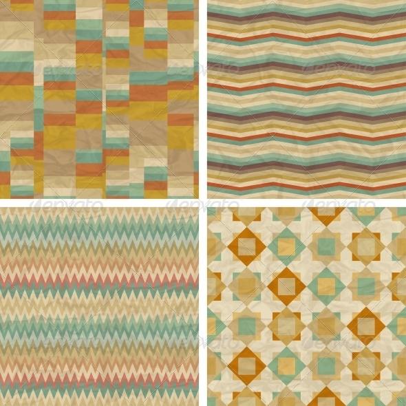Seamless retro geometric patterns. - Patterns Decorative