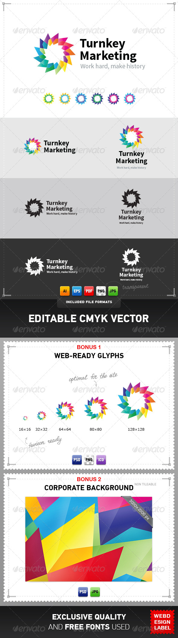 Turnkey Marketing Logo - Abstract Logo Templates