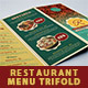 Restaurant Menu Tri-fold Brochure - GraphicRiver Item for Sale