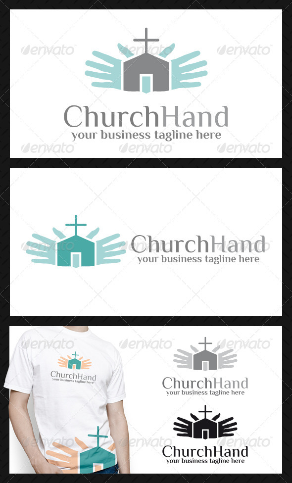 Church Hand Logo Template - Buildings Logo Templates