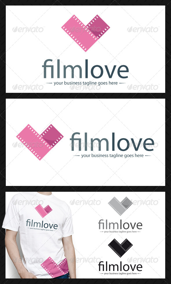 Film Love Logo Template - Objects Logo Templates