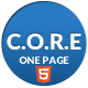 Core - One Page Responsive HTML5 Template - ThemeForest Item for Sale