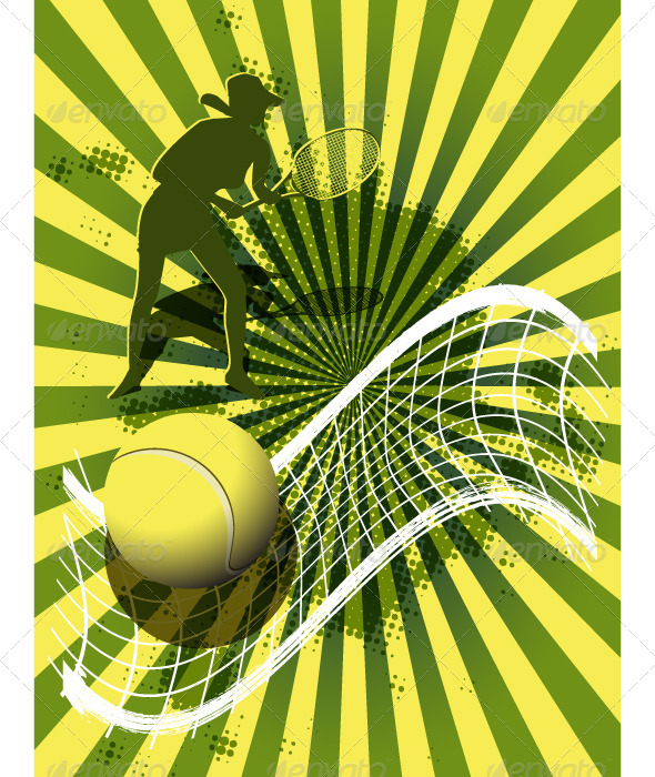sports background tennis - Backgrounds Decorative