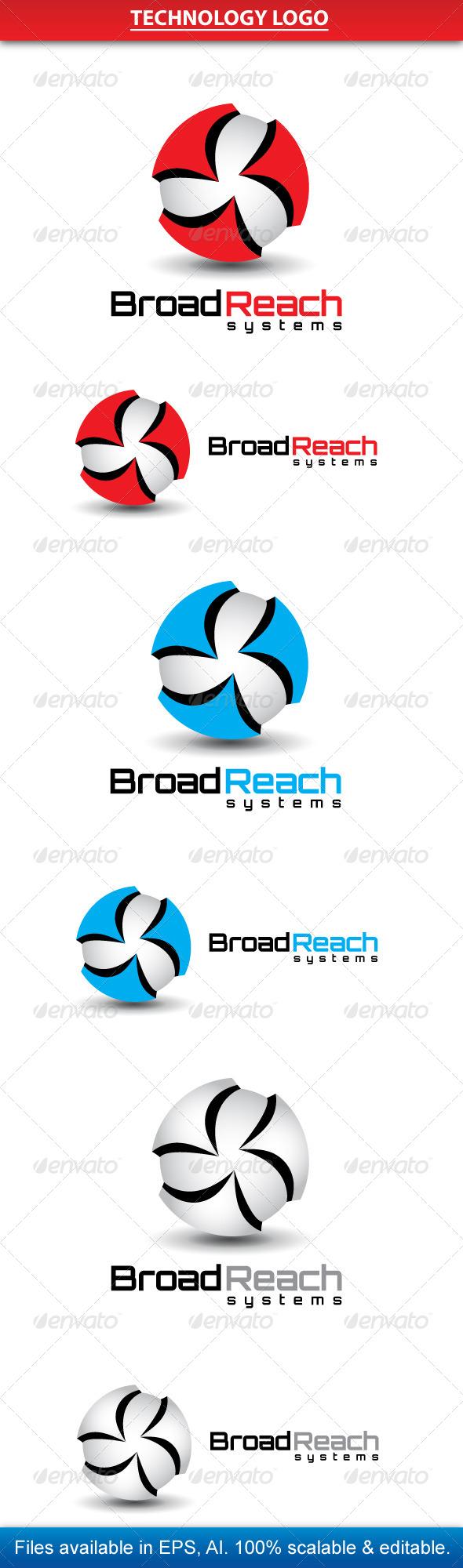 Technology Logo  - Vector Abstract