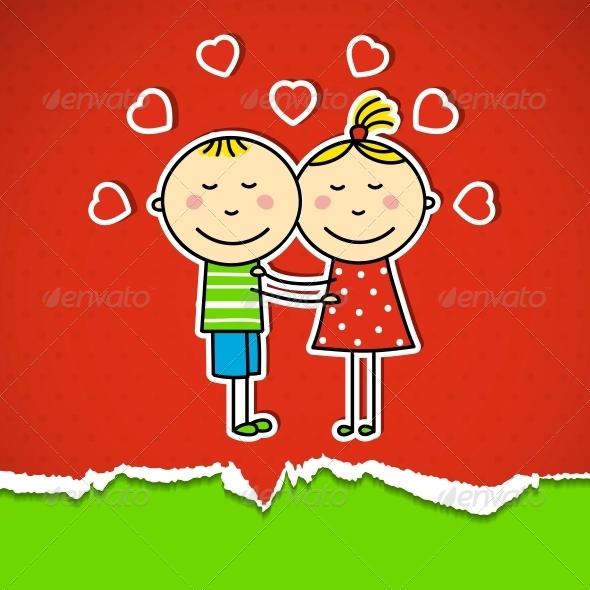 Children in love - Valentines Seasons/Holidays