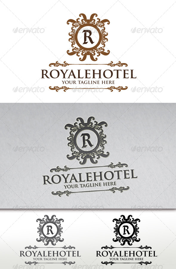 Royale Hotel Crest Logo Template - Crests Logo Templates