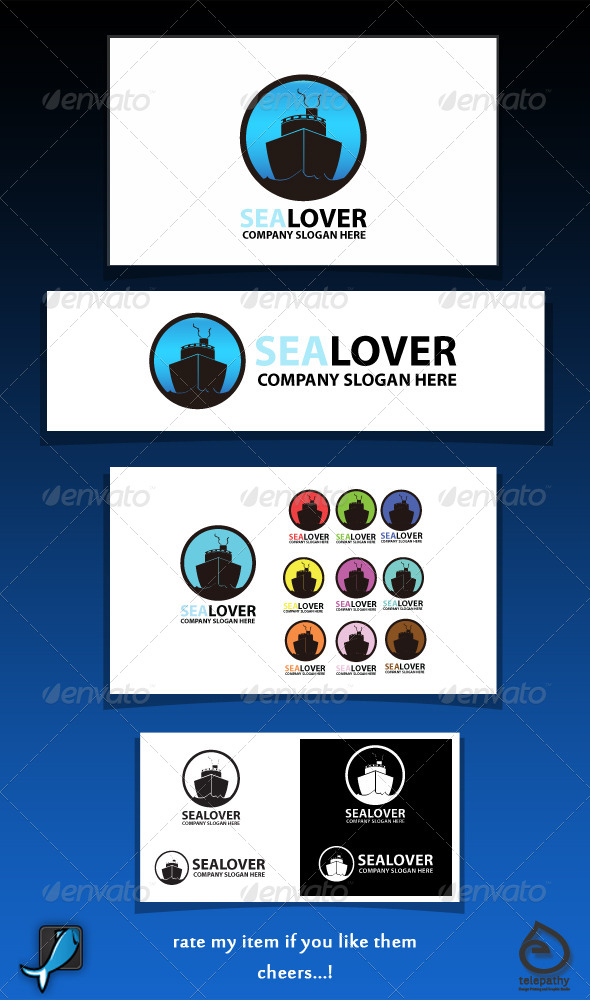 Sea Lover sailorship logo - Symbols Logo Templates