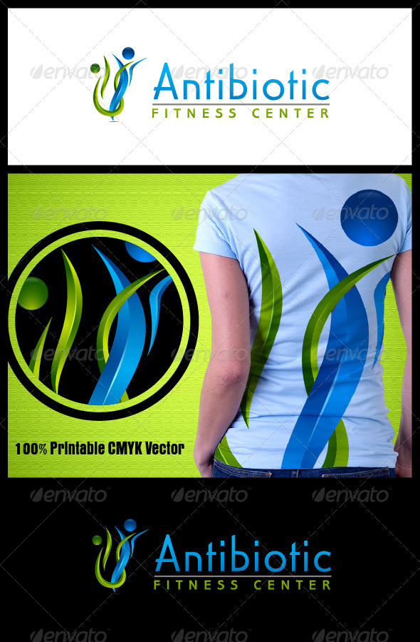 Antibiotic Fitness Logo - Humans Logo Templates