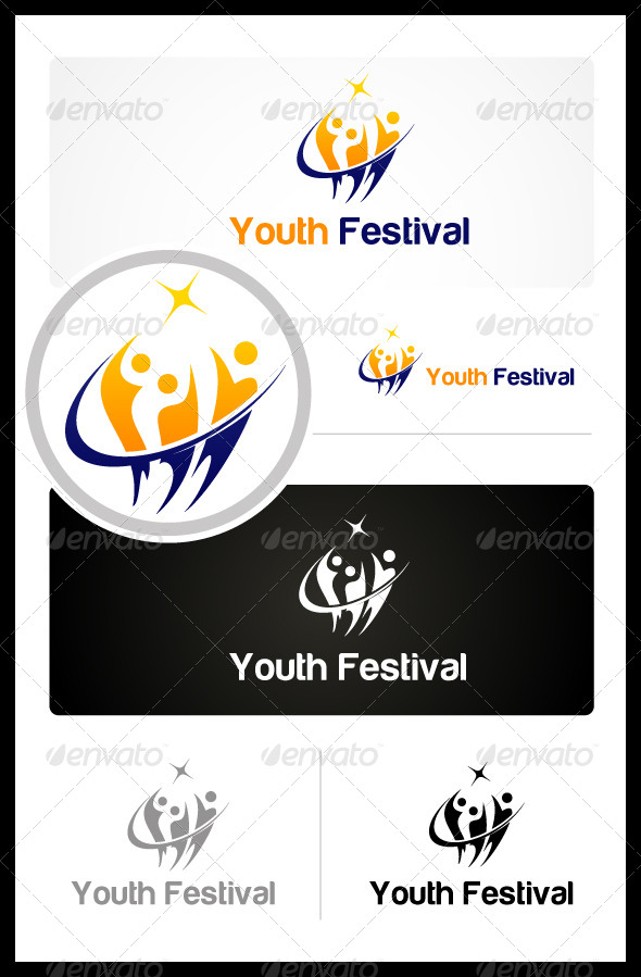 Youth Festival - Humans Logo Templates