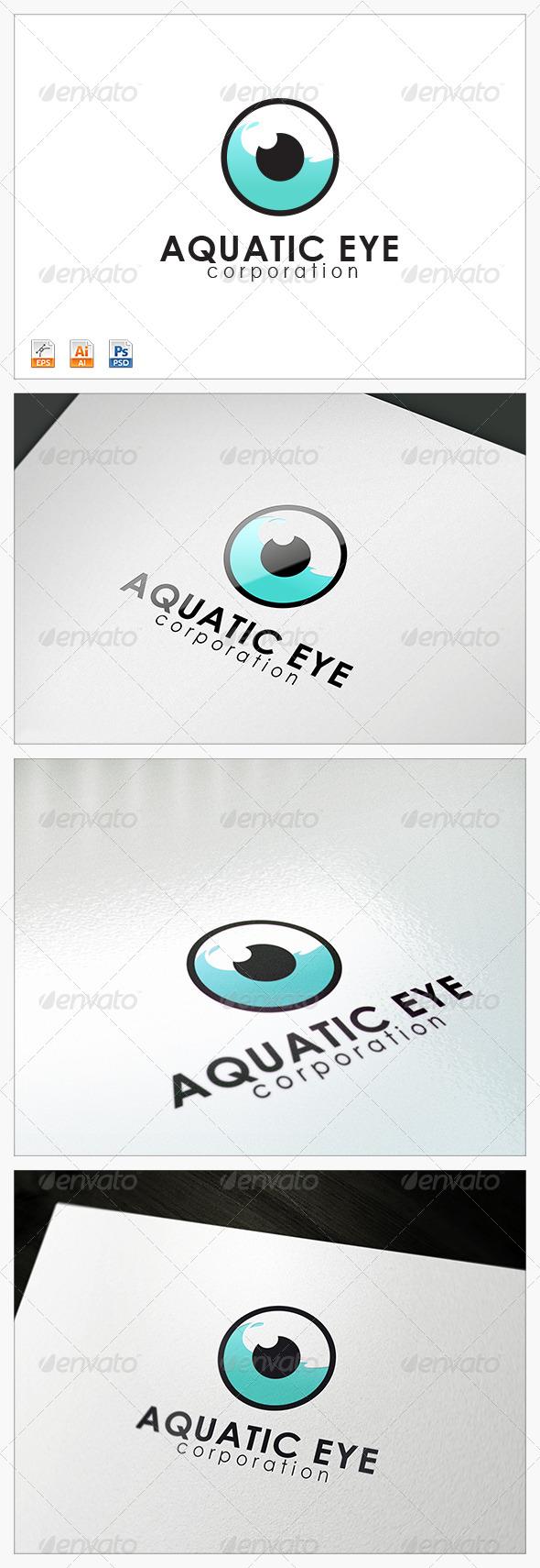 Aquatic Eye logo - Abstract Logo Templates
