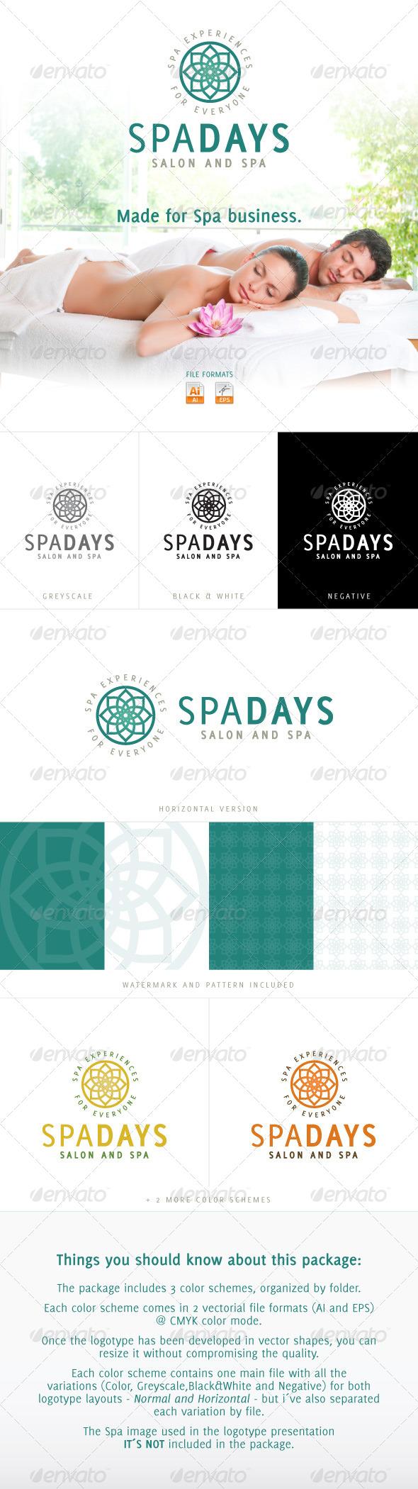 Spa Days - Salon and SPA - Logo Templates