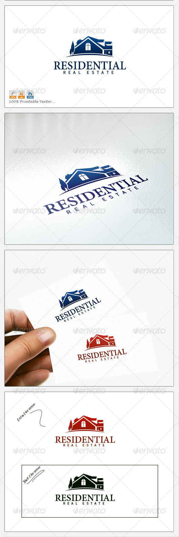 Arend Real Estate - Buildings Logo Templates