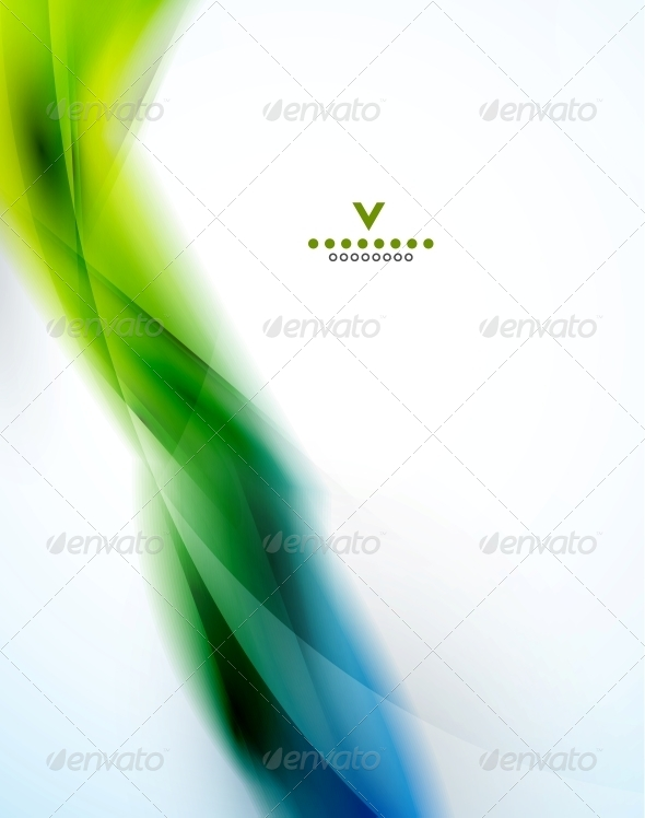 Colorful abstract wave design template - Backgrounds Decorative