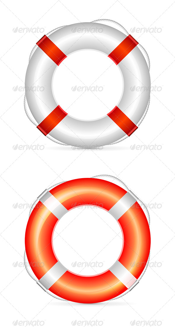 Lifebuoy Vector Illustration - Man-made Objects Objects