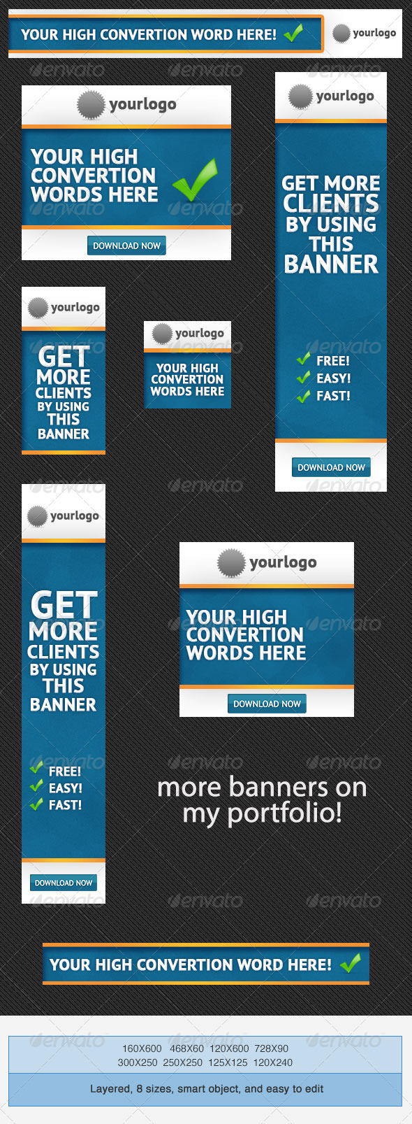 Business Banner Ads PSD Template - Banners & Ads Web Elements