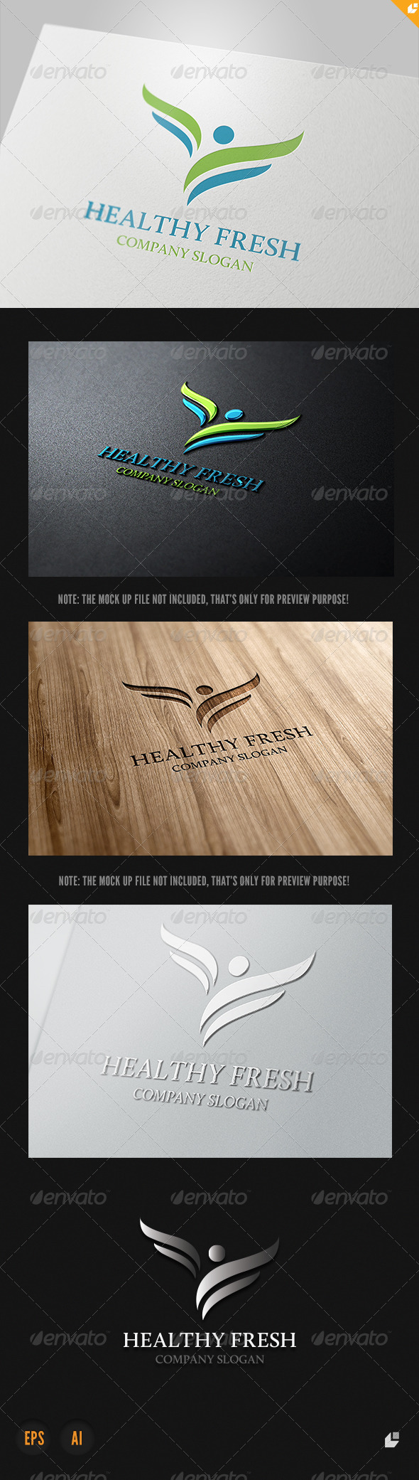 Healthy Fresh Logo - Animals Logo Templates