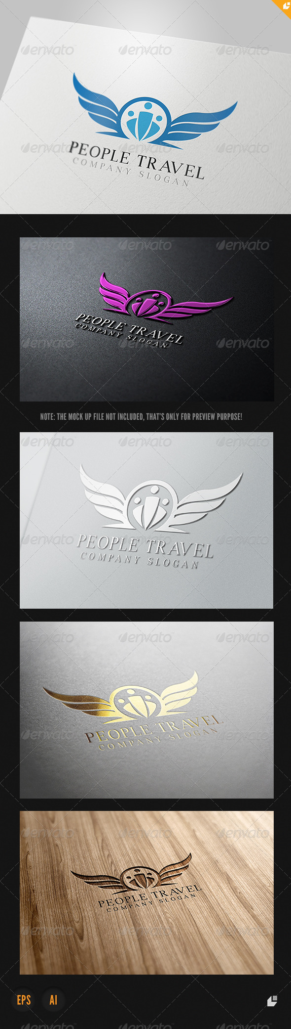 People Travel Logo - Humans Logo Templates