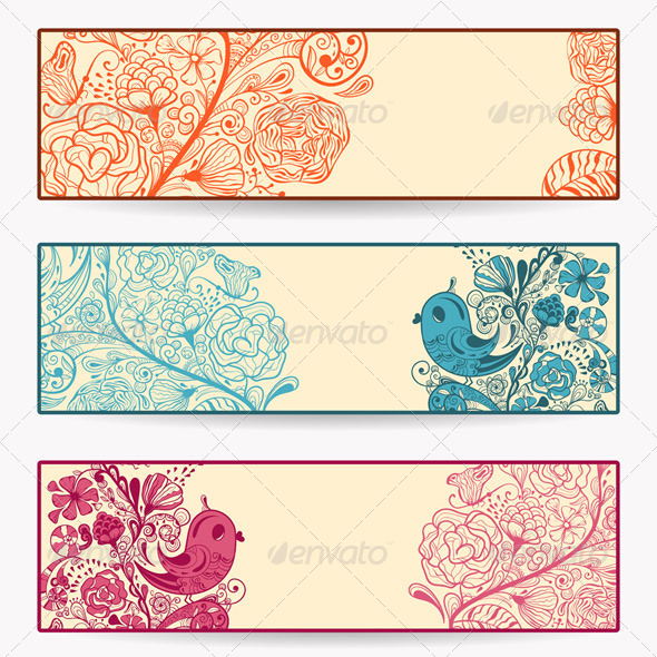 Vector  Spring Banners - Seasons/Holidays Conceptual