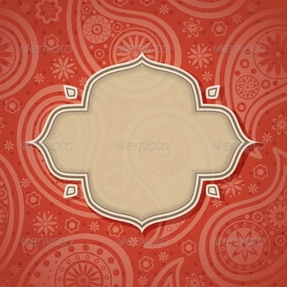 Frame in the Indian style - Patterns Decorative