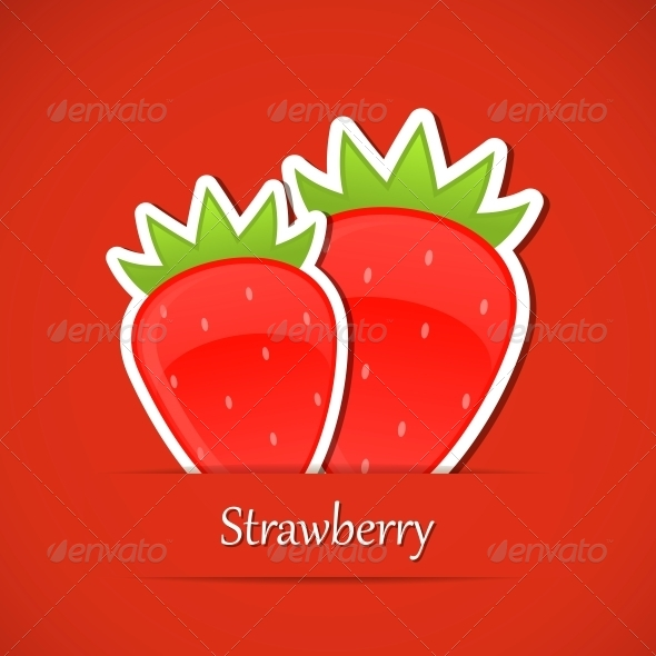 Berry Label - Food Objects