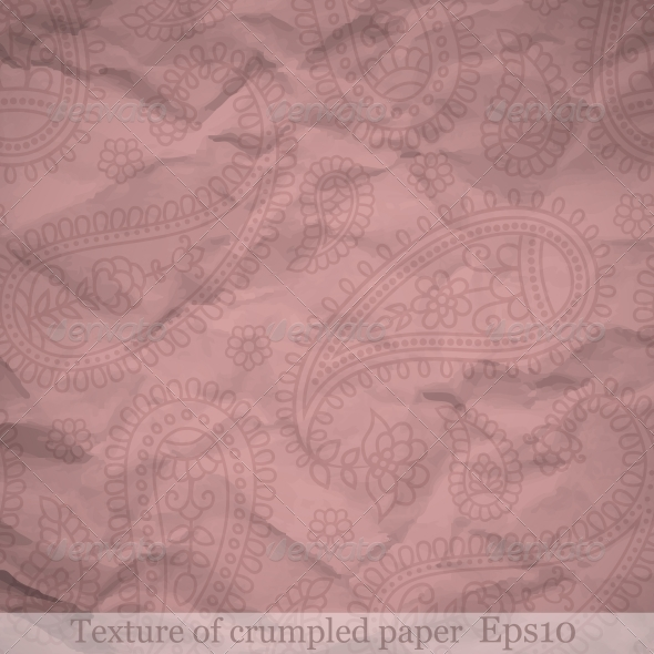 Texture of Crumpled Paper - Patterns Decorative