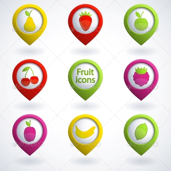 Fruit Icons - Food Objects