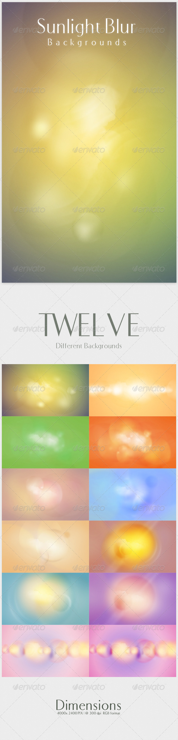 Sunlight Blur Backgrounds - Abstract Backgrounds
