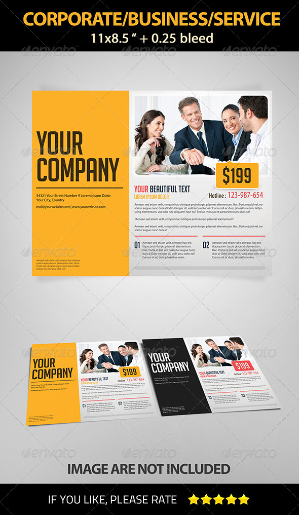 Landscape Corporate/Business/Service Flyer - Corporate Flyers