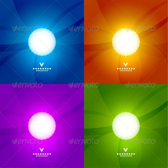 Set of Colourful Shiny Design Templates - Backgrounds Business