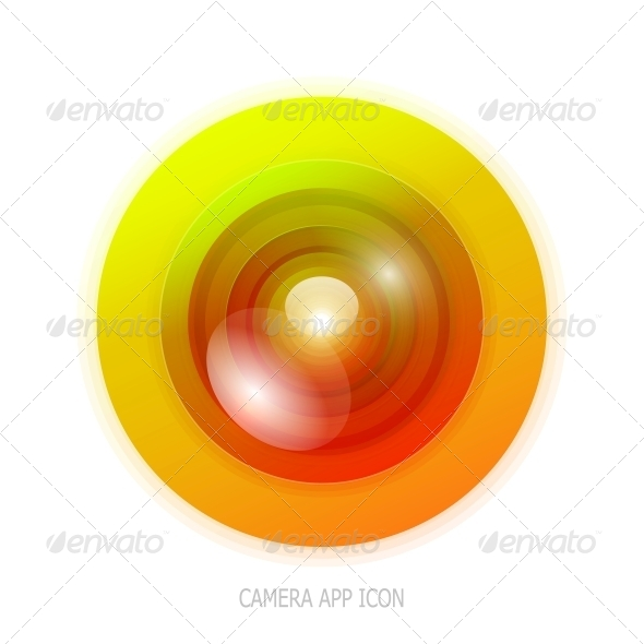 Colourful Camera App Icon - Media Technology