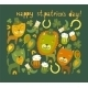 Cute St.Patrick's Day Background with Cats - GraphicRiver Item for Sale