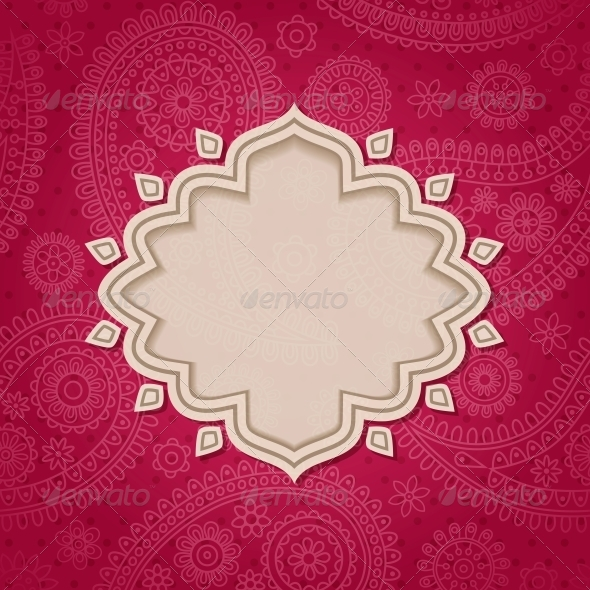 Indian Frame - Patterns Decorative