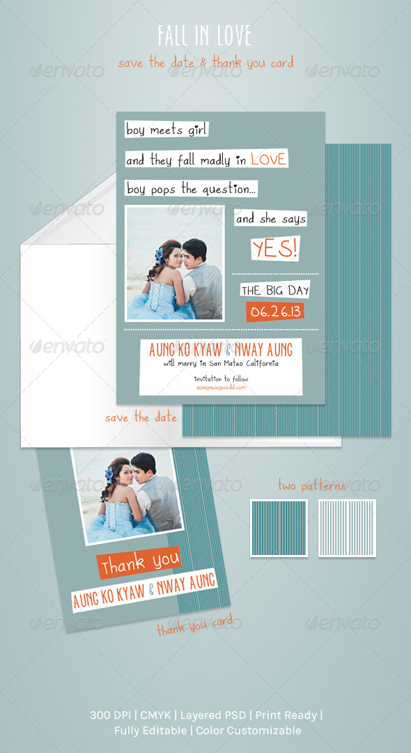 Fall In Love - Weddings Cards & Invites