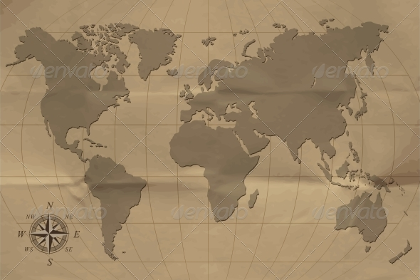 Old map - Backgrounds Decorative