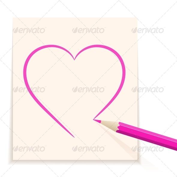 Hand drawn heart - Decorative Symbols Decorative