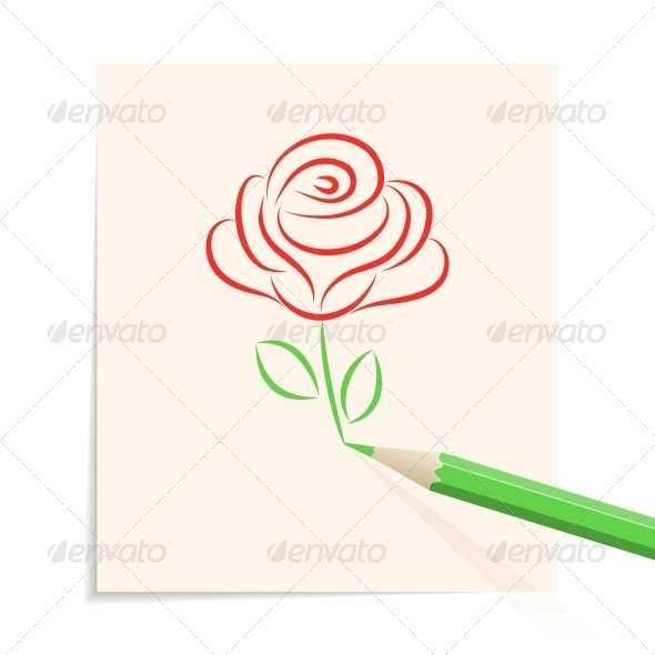 Hand drawn rose - Flowers & Plants Nature