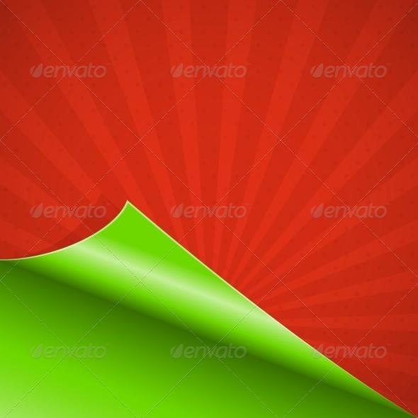 Red curled paper - Web Elements Vectors